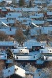 Zona residenziale in inverno Immagini Stock Libere da Diritti