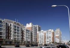 Zona residenziale moderna. Fotografia Stock