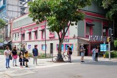 Zona Rosa, un voisinage cosmopolite vibrant à Mexico images stock