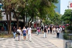 Zona Rosa, un voisinage cosmopolite vibrant à Mexico photo libre de droits