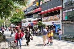 Zona Rosa, un voisinage cosmopolite vibrant à Mexico image libre de droits