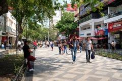 Zona Rosa, a vibrant cosmopolitan neighborhood in Mexico City. MEXICO CITY,MEXICO - JULY 14,2018 : Zona Rosa, a cosmopolitan neighborhood in Mexico City, well royalty free stock images