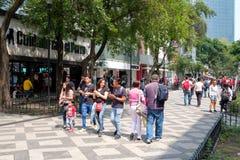 Zona Rosa, a vibrant cosmopolitan neighborhood in Mexico City. MEXICO CITY,MEXICO - JULY 14,2018 : Zona Rosa, a cosmopolitan neighborhood in Mexico City, well stock photo