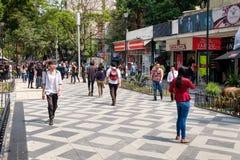 Zona Rosa, a vibrant cosmopolitan neighborhood in Mexico City. MEXICO CITY,MEXICO - JULY 14,2018 : Zona Rosa, a cosmopolitan neighborhood in Mexico City, well royalty free stock image