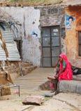 Zona rurale difficile e in India Fotografia Stock Libera da Diritti