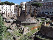 Zona sagrada de Roma de la Argentina ancha foto de archivo