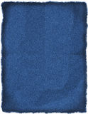 Zona spiegazzata delle blue jeans Immagine Stock