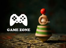 Zona superior do jogo do brinquedo Imagem de Stock