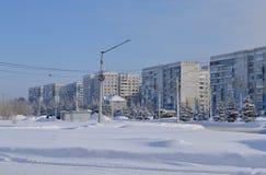 Zona urbana en el invierno Imagen de archivo libre de regalías