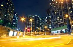 Zona urbana en la noche foto de archivo libre de regalías