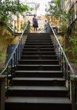 Zona Velha - o distrito o mais velho famoso para seus melhores restaurantes e cafés em Funchal Imagens de Stock