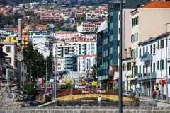 "Zona Velha - Old City of Funchal, Madeira. The old town ""Zona Velha"" of Funchal on the Island Madeira, Portugal Royalty Free Stock Photography"