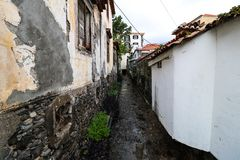 "Zona Velha - Old City of Funchal, Madeira. The old town ""Zona Velha"" of Funchal on the Island Madeira, Portugal Stock Photo"