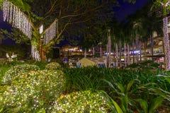 Zona verde di novembre 30,2017 una vista di 3 notti dal parco, Makati, Philippin fotografie stock libere da diritti