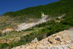 Zona volcánica Imagen de archivo libre de regalías
