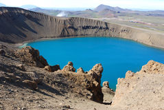 Zona vulcanica Fotografia Stock Libera da Diritti