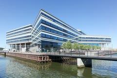 Zonas das docas de Aarhus em Dinamarca Fotografia de Stock