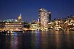 Zonas das docas de Melbourne Foto de Stock