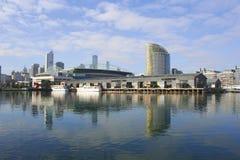 Zonas das docas de Melbourne, Austrália Fotos de Stock