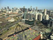Zonas das docas na cidade de Melbourne Fotografia de Stock
