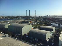 Zonas das docas na cidade de Melbourne Fotos de Stock