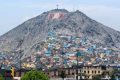 Zonas de la pobreza de Lima Foto de archivo libre de regalías