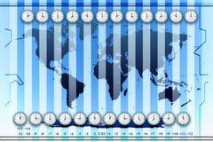 Zonas horarias Imagen de archivo libre de regalías