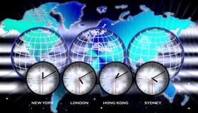 Zonas horarias del mapa del mundo libre illustration