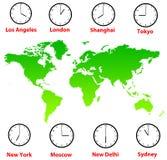 Zonas horarias del mundo Foto de archivo libre de regalías