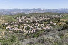 Zonas suburbanas de la vivienda del valle Imágenes de archivo libres de regalías