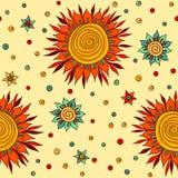 Zonbloemen Stock Afbeelding