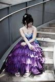 Zonder datum op Nacht Prom royalty-vrije stock foto's