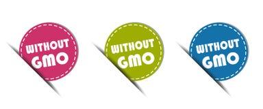 Zonder GMO-Knoop - Kleurrijke VectordieIllustratie - op Witte Achtergrond wordt geïsoleerd royalty-vrije illustratie