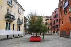 Zonder mensenvierkant in Venetië - Italië Royalty-vrije Stock Foto