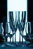 Zonder wijnglazen Stock Foto