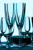 Zonder wijnglazen Royalty-vrije Stock Foto's