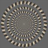 Zonderlinge roterende cirkel. optische illusie stock illustratie