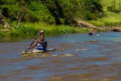Zondi Birkett Dusi Canoe Race Stock Image