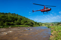 Helicopter Canoe Race Royalty Free Stock Images