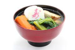 Zone. Is the soup containing rice cakes which is eaten on New Year Day Stock Images