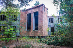 Zone of Alienation. Building in abandoned summer camp in Chernobyl Exclusion Zone, Ukraine Royalty Free Stock Photography