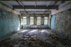 Zone of Alienation. Building next to Duga radar in Chernobyl Exclusion Zone, Ukraine Royalty Free Stock Image