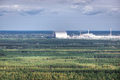 Zone of Alienation. Chernobyl New Safe Confinement in Chernobyl Exclusion Zone, Ukraine Royalty Free Stock Images