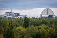 Zone of Alienation. Chernobyl Nuclear Power Station in abandoned zone in Ukraine Royalty Free Stock Image