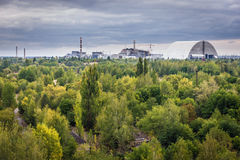 Zone of Alienation. Chernobyl Nuclear Power Station in abandoned zone in Ukraine Royalty Free Stock Photos