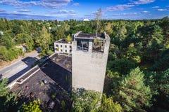 Zone of Alienation. Fire station building in Pripyat city, Chernobyl Exclusion Zone, Ukraine Royalty Free Stock Photo