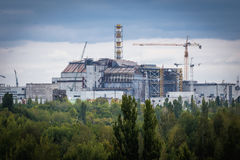 Zone of Alienation. Nuclear Power Station in Chernobyl Exclusion Zone, Ukraine Stock Photos