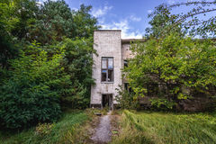 Zone of Alienation. Small hospital in abandoned military town called Chernobyl-2 in Chernobyl Exclusion Zone, Ukraine Stock Photo