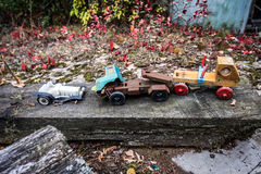Zone of Alienation. Toys in abandoned Pripyat city in Chernobyl Exclusion Zone, Ukraine Stock Images