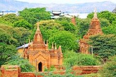Zone archéologique de Bagan, Myanmar Images stock